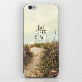 eat sleep beach iPhone Skin