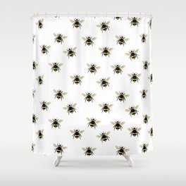 Bumble Bee pattern Shower Curtain