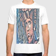 another birck head White MEDIUM Mens Fitted Tee
