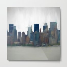 Storm in the City Metal Print
