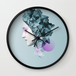 Faces Blue 01 Wall Clock