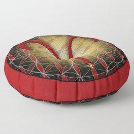Flower of Life ARIES Astrology Design Floor Pillow
