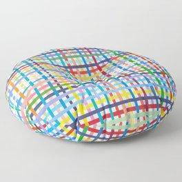 Crosshatch Rainbow Floor Pillow