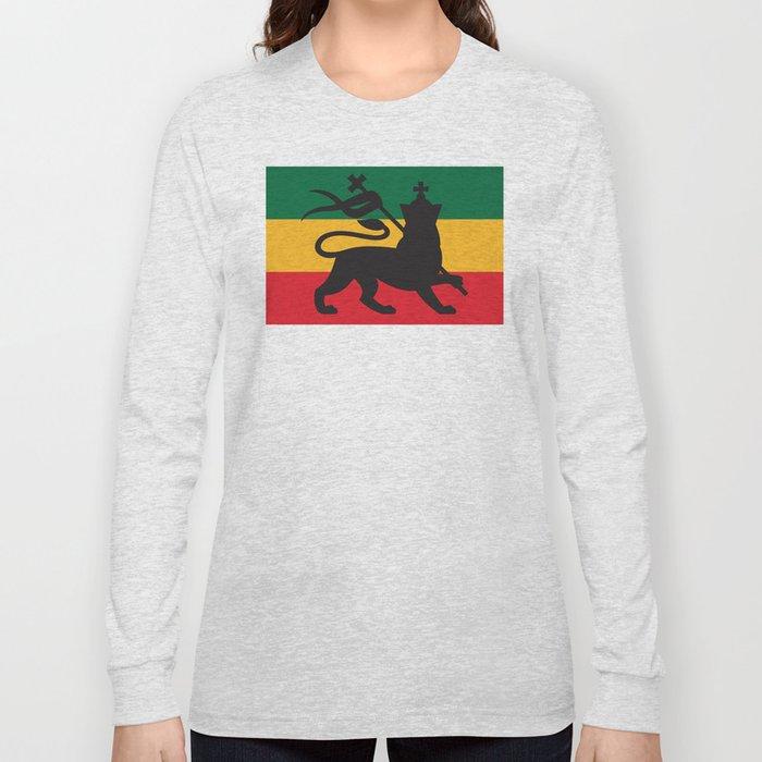 Rastafarian Flag With The Lion Of Judah Reggae Background Long