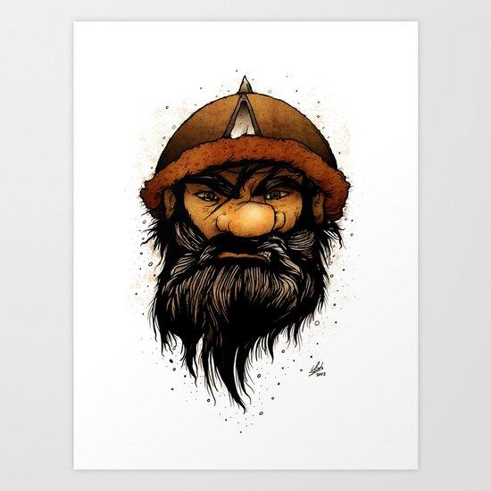 Warrior (Color Version) Art Print
