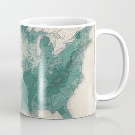 1883 USA Map of Density of Forests Coffee Mug