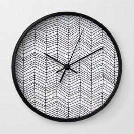 scribble doodle pattern Wall Clock