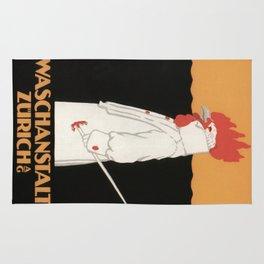 Vintage poster - Waschanstalt Zurich Rug