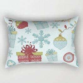 Merry Christmas-Festive gift and Christmas Bowls X-Mas Pattern Rectangular Pillow