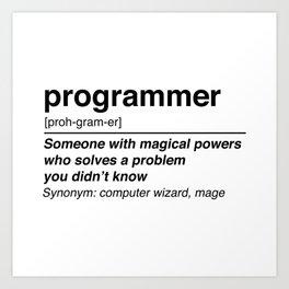 programmer definition Art Print