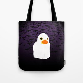 Fuzzy Duck Ghost Tote Bag