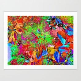 """ Kiwi Lifestyle"" - Pohutukawa NZ Bloom- Pop ART Art Print"