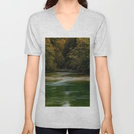 Wood River, Arcadia - West Greenwich, Rhode Island Unisex V-Neck