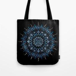 Blue Mandala Hand Painted Design Tote Bag