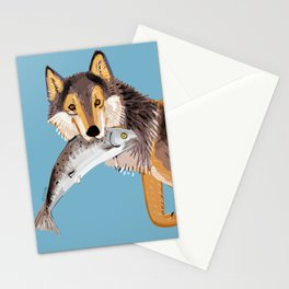 Totem Coastal wolf (Vancouver Wolf) Stationery Cards