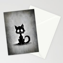 Creepy Cat Stationery Cards