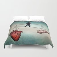 balance Duvet Covers featuring The Balance by Christian Schloe