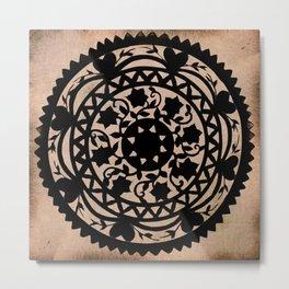 Black Scissor Cut Out Metal Print