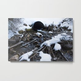 Icy Stream Metal Print