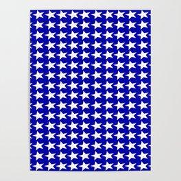 Blue White Stars Design Poster