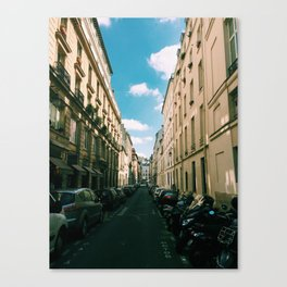 Spring in Paris - Le Marais Street Scene Canvas Print