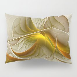 Abstract With Colors Of Precious Metals, Fractal Art Pillow Sham