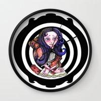 goth Wall Clocks featuring Viola  goth by Silviacat