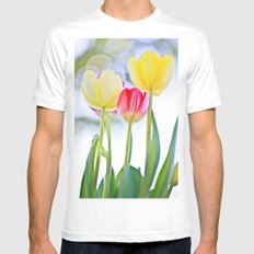 Cheerful Thoughts Mens Fitted Tee White MEDIUM