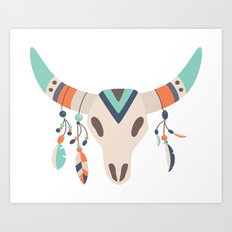 Tribal Skull Art Print