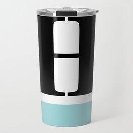 Monogram Letter H-Pantone-Limpet Shell Travel Mug