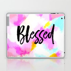 Blessed - Neon Pink Abstract Typography Laptop & iPad Skin
