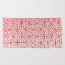 nezuko pattern 2 Beach Towel
