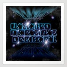 Unlimited Dimensions Department Art Print