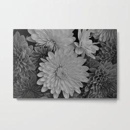 Black & White Flowers Metal Print