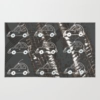cars Area & Throw Rugs featuring Cars by Art & Fantasy by LoRo