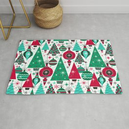 Deck The Halls - White Green Rug