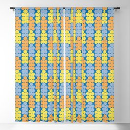 Spring colorful pattern with trees Blackout Curtain