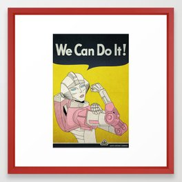 we can do it. Framed Art Print