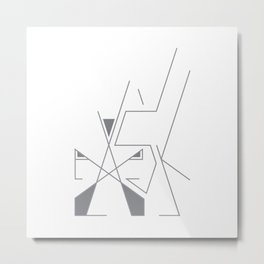 Ask. 1of 3. on white. Metal Print