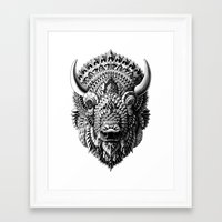 bison Framed Art Prints featuring Bison by BIOWORKZ