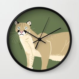 Carnivores of World: Cougar Pum(a) (c) 2017 Wall Clock