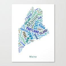 Word Cloud - Maine Canvas Print