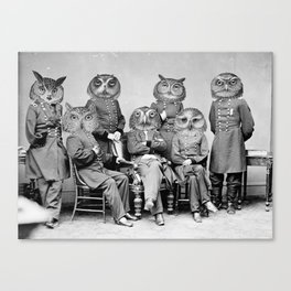 Owls of the Republic Canvas Print