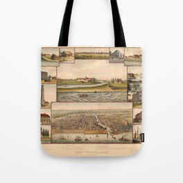Historical Views Of Chicago Tote Bag