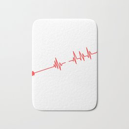 """Grab This Eye-Catching Shirt """"Heartbeat Archery"""" Perfectly Made For Archers Hunters T-shirt Design Bath Mat"""