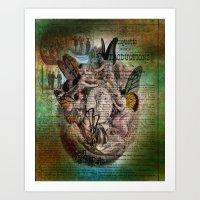 fairies Art Prints featuring Fairies by Moon Willow