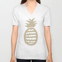 Golden pineapple pattern Unisex V-Neck