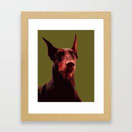 Doberman, majestic dog Framed Art Print