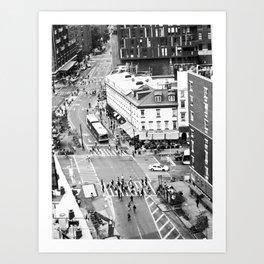 Street people in New York Art Print