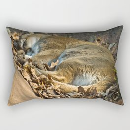Sleeping Mountain Lion Rectangular Pillow